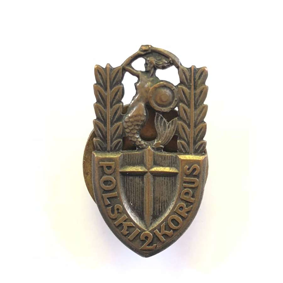 WW2 2nd Polish Corps Numbered Breast Badge