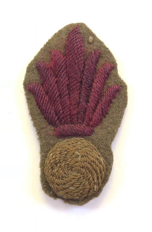 WW1 Trench Bombers felt cloth arm badge.
