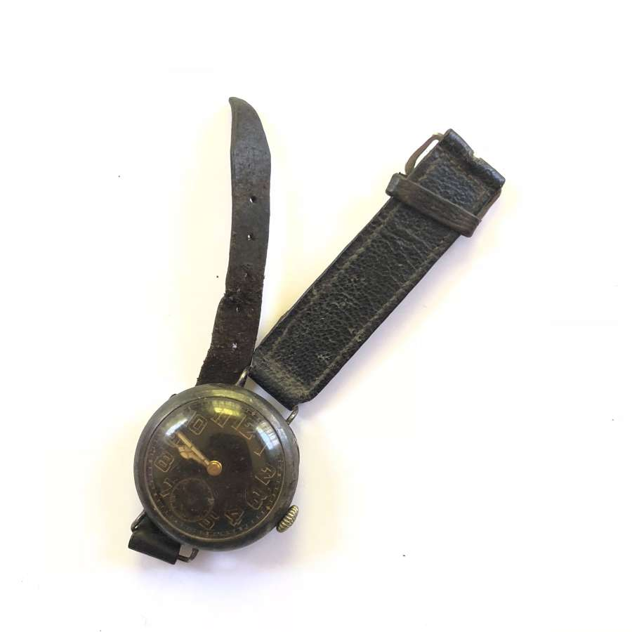 WW1 Style Silver Cased Wristwatch