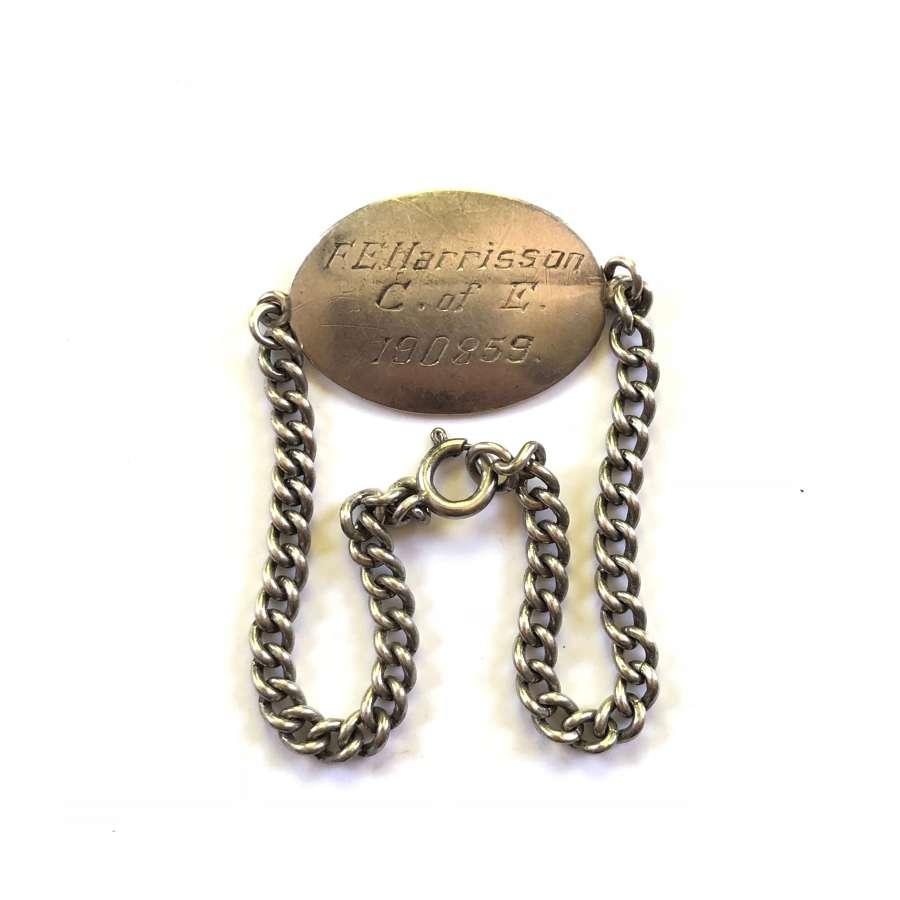 Silver Soldier's ID Bracelet.