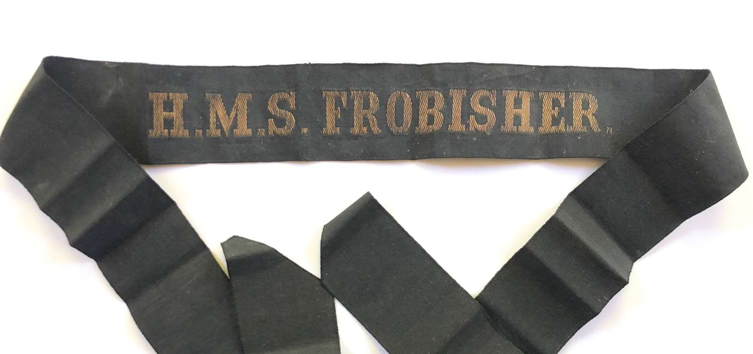 Royal Navy HMS Frobisher Ratings Cap Tally.