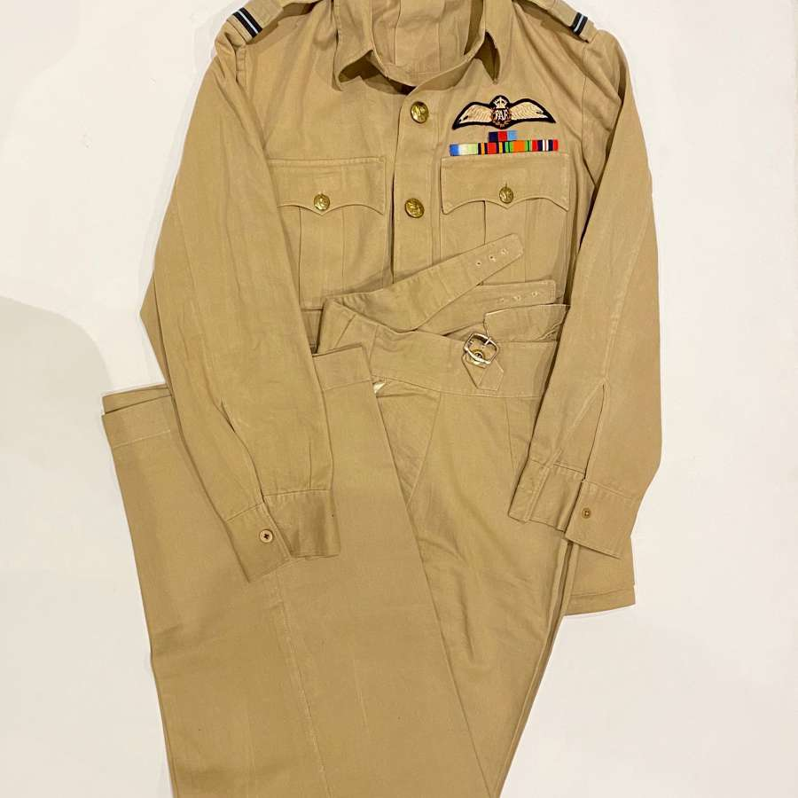 WW2 Period RAF Tropical KD Pilot's Uniform.