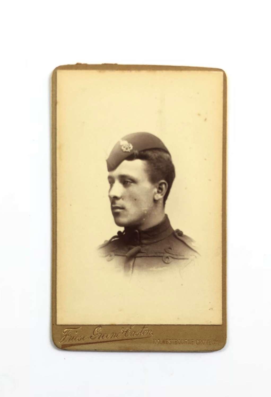 Victorian East Lancashire Regiment Officers Carte de Visite Photograph