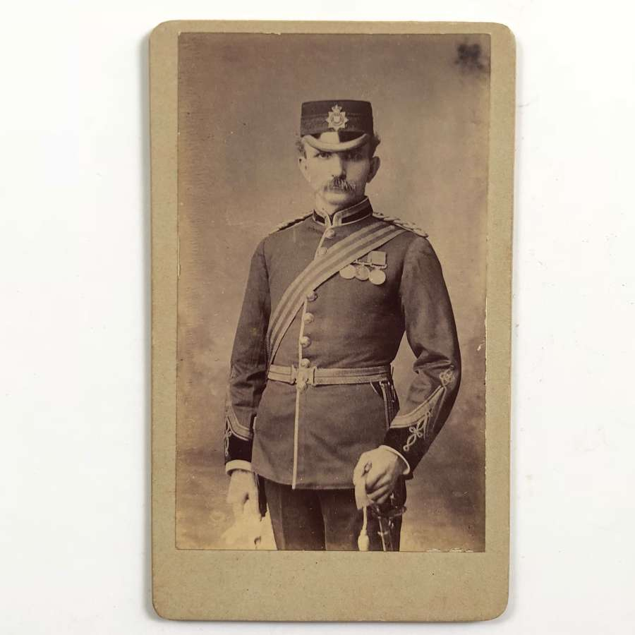 Victorian East Surrey Regiment Officer's Carte de Visite Photograph