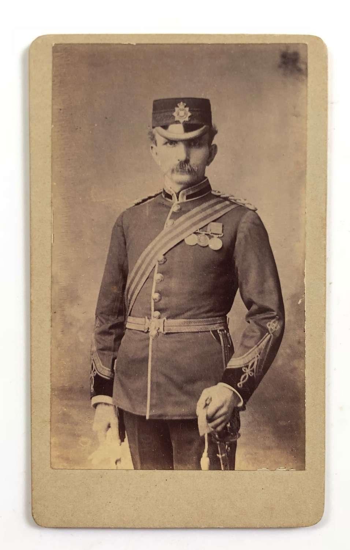 Victorian East Surrey Regiment Officer's Carte de Visite Photograph