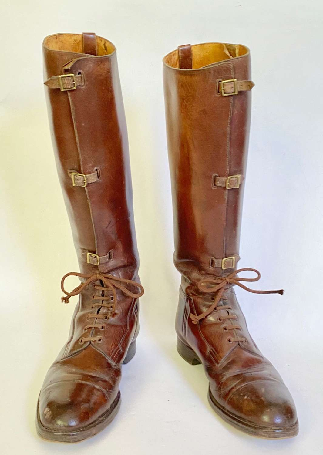Late WW1 Interwar Pattern British Officer's Boots.