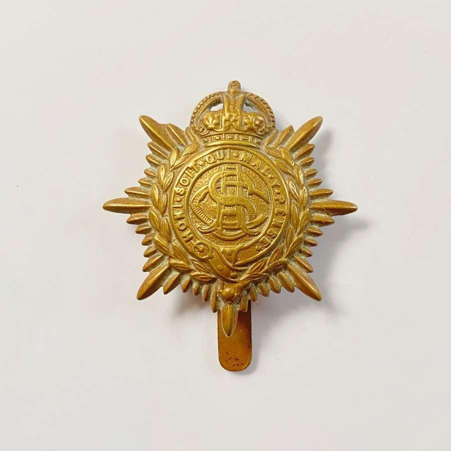 WW1 Army Service Corps Economy Cap Badge.