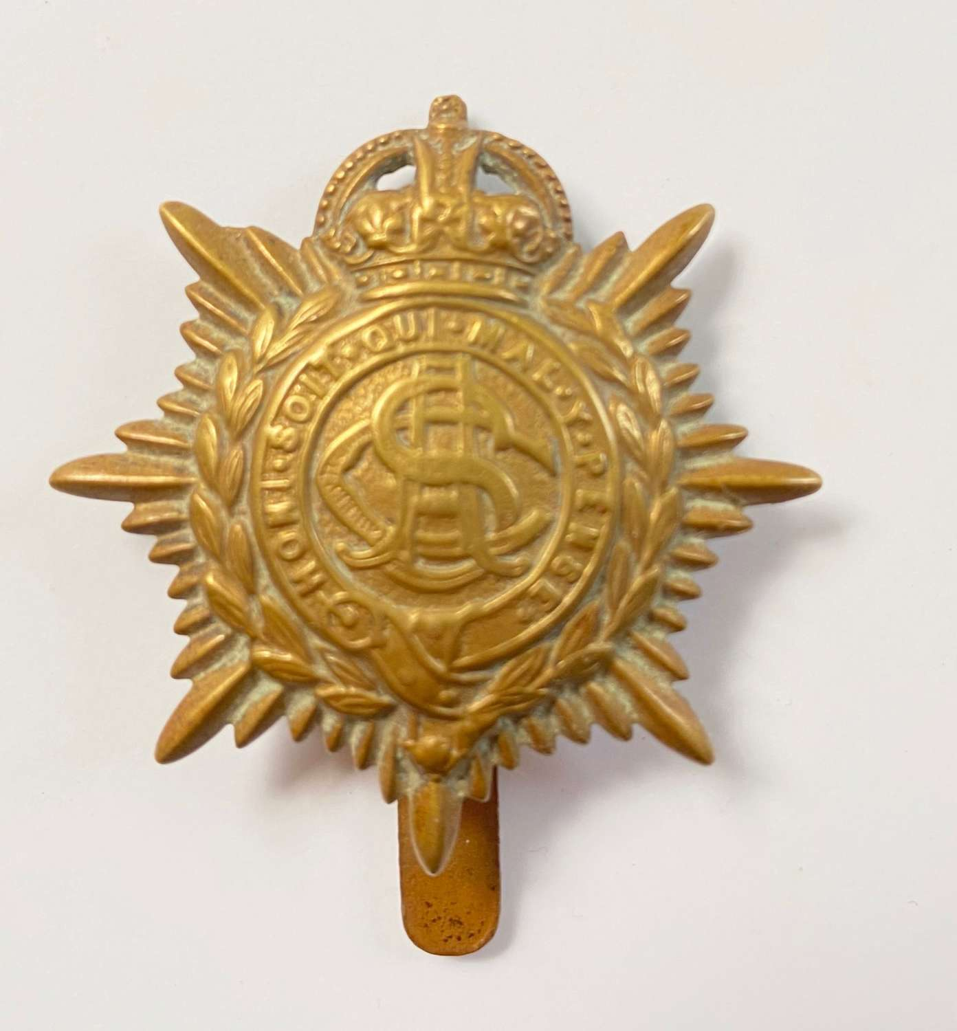 WW1 Army Service Corps Economy Cap Badge.