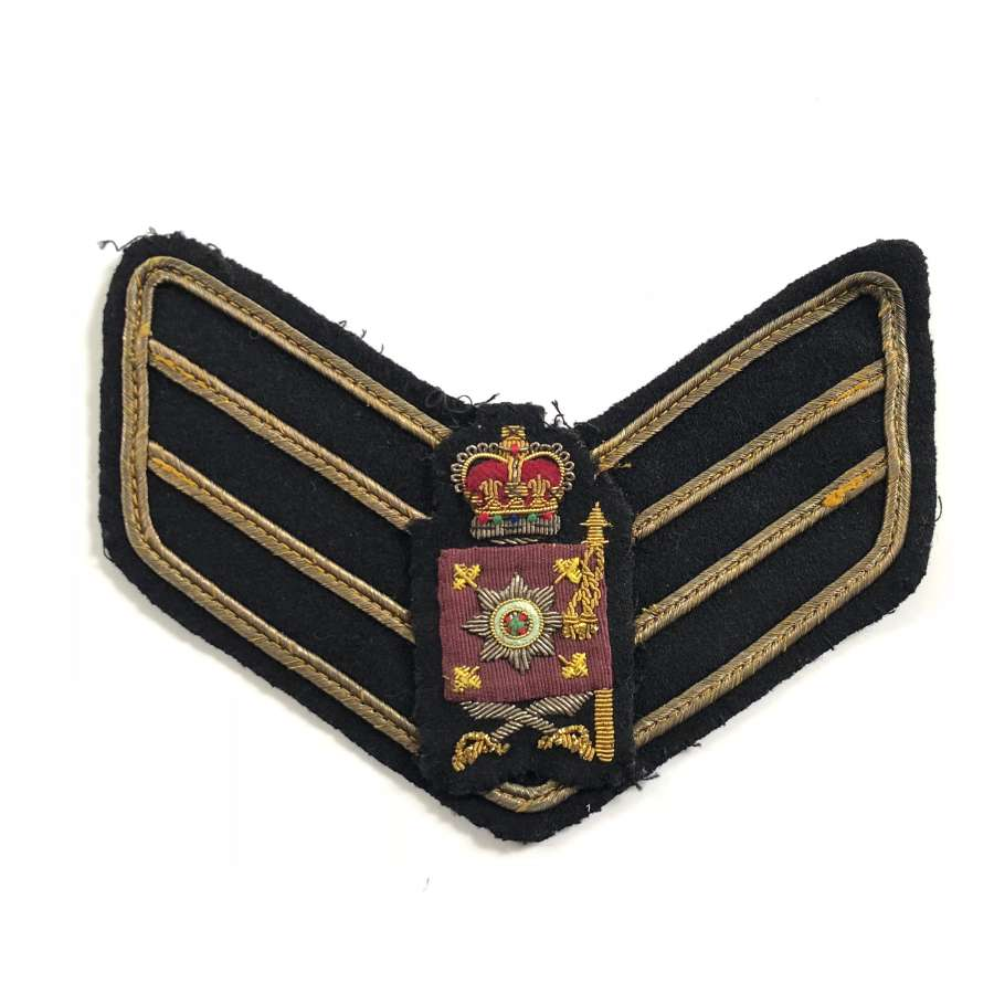 Irish Guards Cold War Period Colour Sergeant Arm Badge.