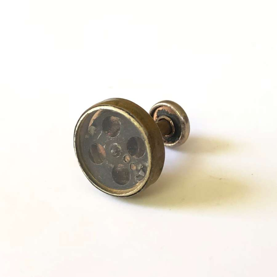 Rare WW2 RAF ORIGINAL Early Pattern Escape Collar Stud Compass
