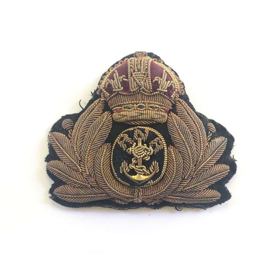 WW1 Royal Naval Reserve  RNR Officer's Civil Branch Cap Badge.