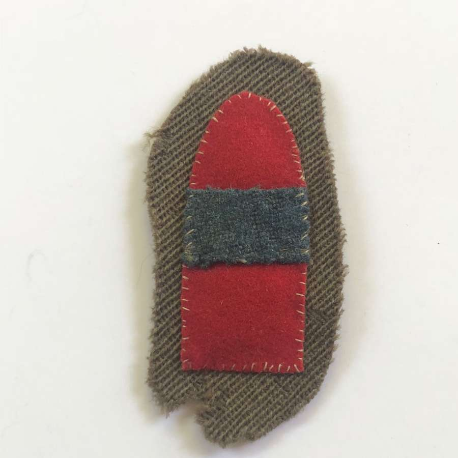 WW1 Divisional Ammunition Column Officer's cloth formation sign.
