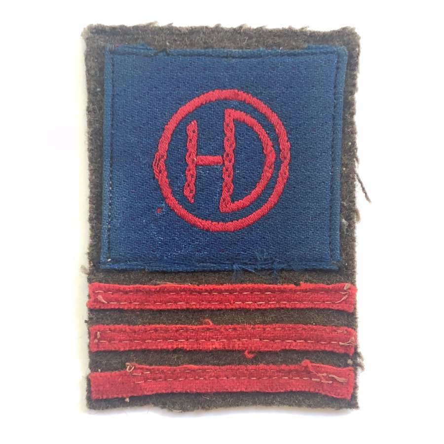 WW2 51st Highland Division cloth combination formation sign.