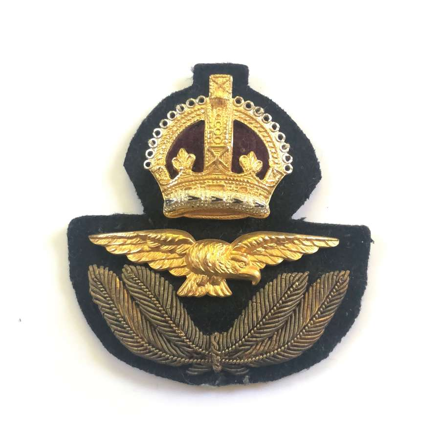 WW2 RAF Officer's Economy Cap Badge.