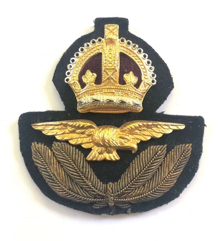 WW2 RAF Officer's Economy Cap Badge.