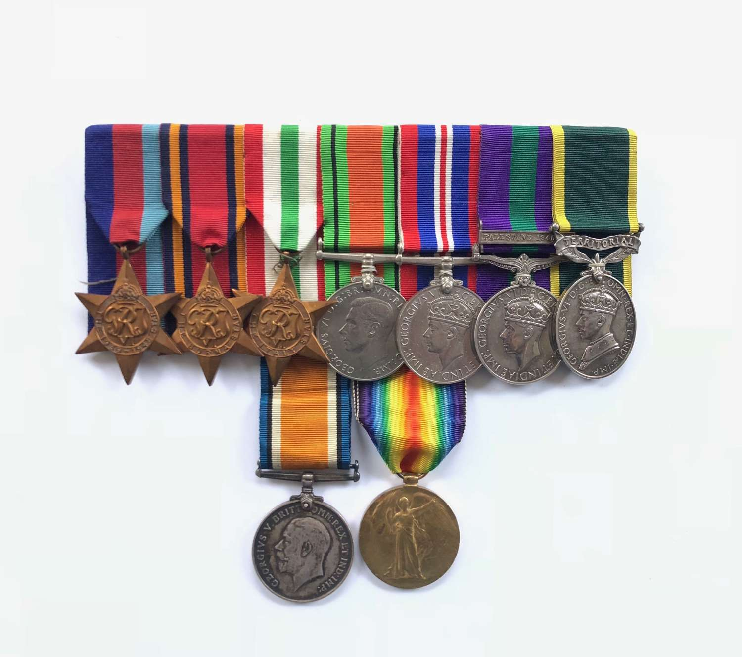 WW2 Royal Corps of Signals Officer's Group of 7 Medals.