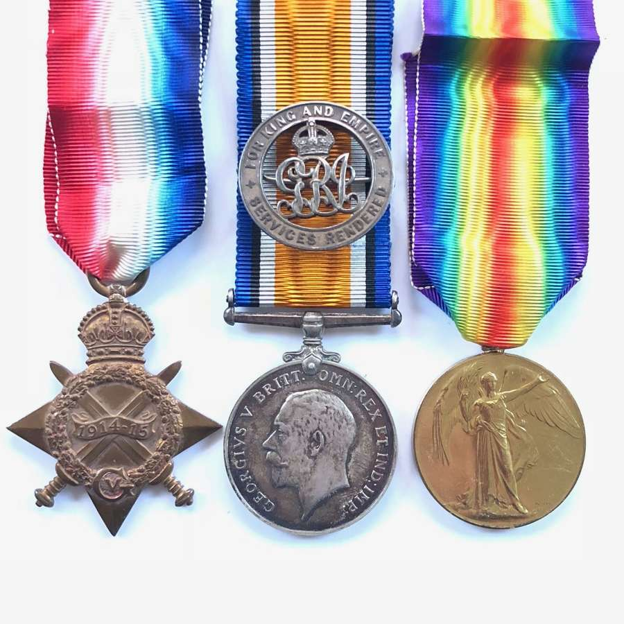 WW1 1st Newcastle Royal Engineers Officer's Group of Medals.