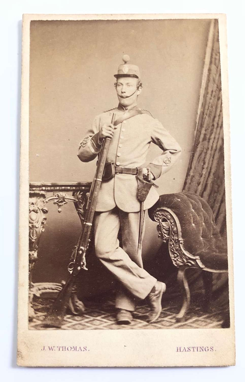Victorian Cinque Ports Rifle Volunteers Carte de Visite Photograph
