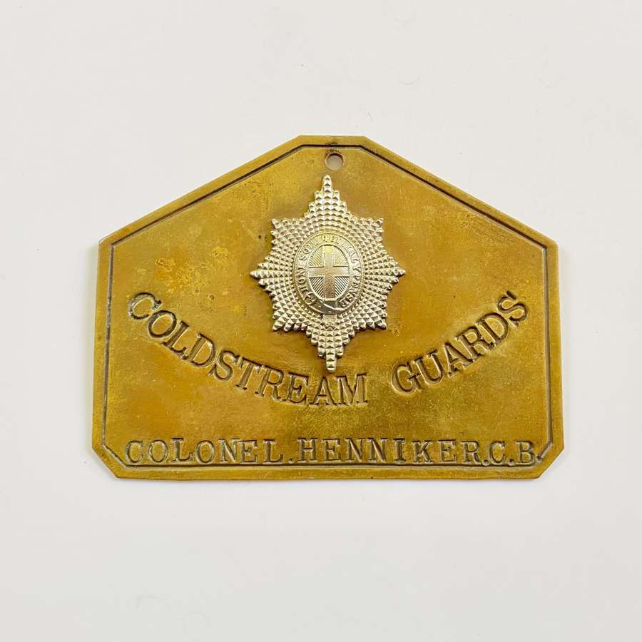 Coldstream Guards Senior Officer's Duty Bed Plate.