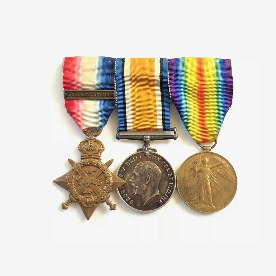 WW1 2nd Bn Essex Regiment 1914 Star Group of Three