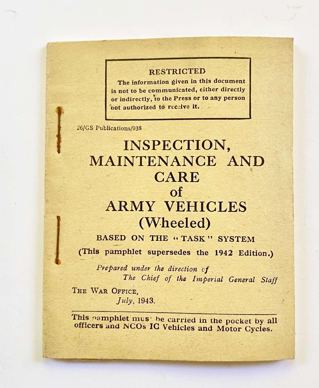WW2 1943 British War Department Vehicles Manual.