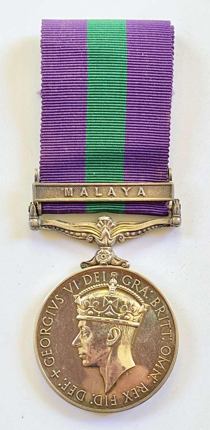 "12th Lancers General Service Medal, Clasp ""Malaya"""