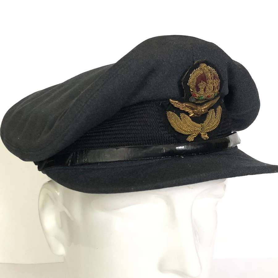 WW2 RAF Large Size Officer's Peaked Cap.