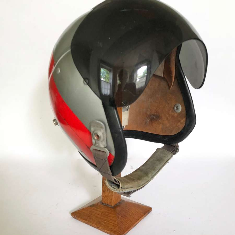 Cold War Period RAF MK1A Personalised Bone Dome Flying Helmet.