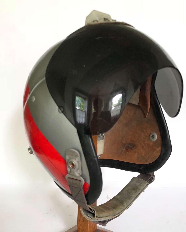 Cold War Period RAF MK1A Personalised Bone Dome Flying Helmet.
