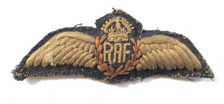 WW2 RAF Padded Pilot Wings.