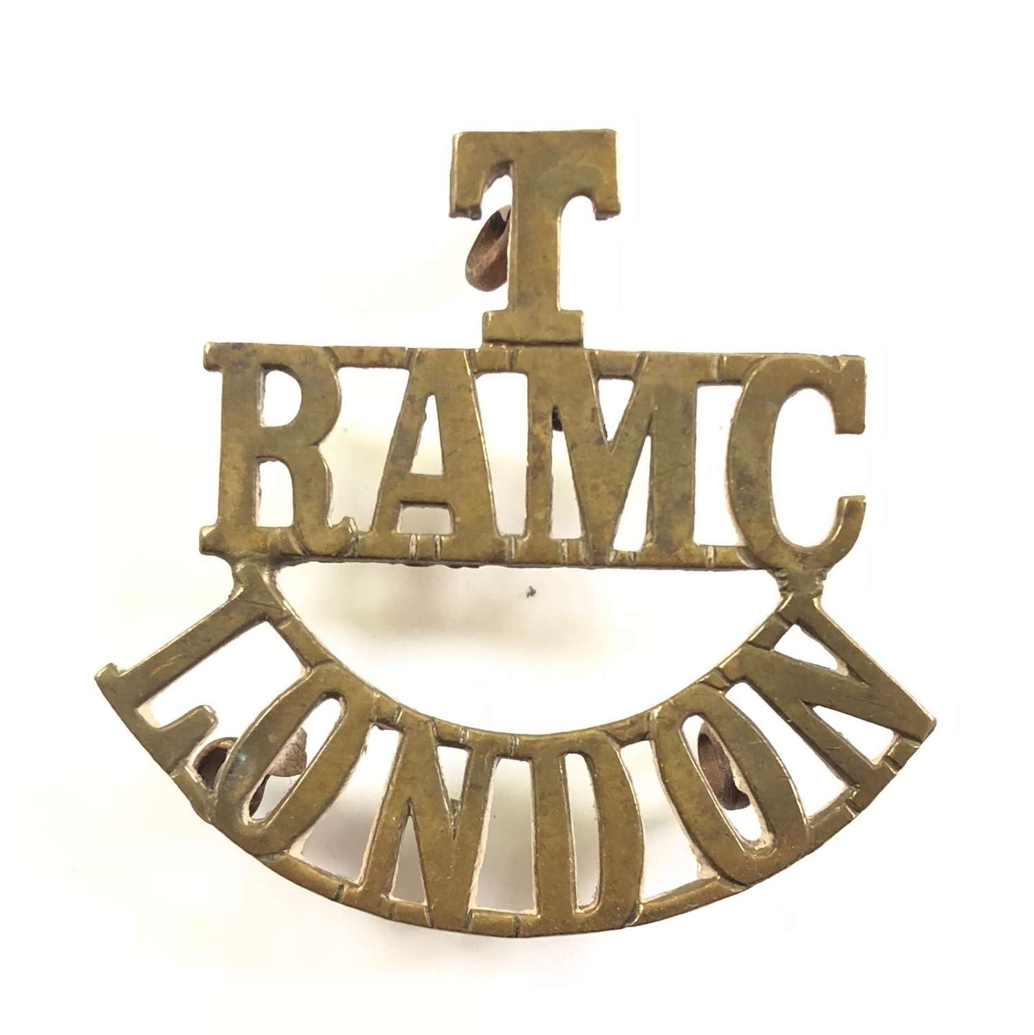 WW1 T/RAMC/ London Brass Shoulder Title.