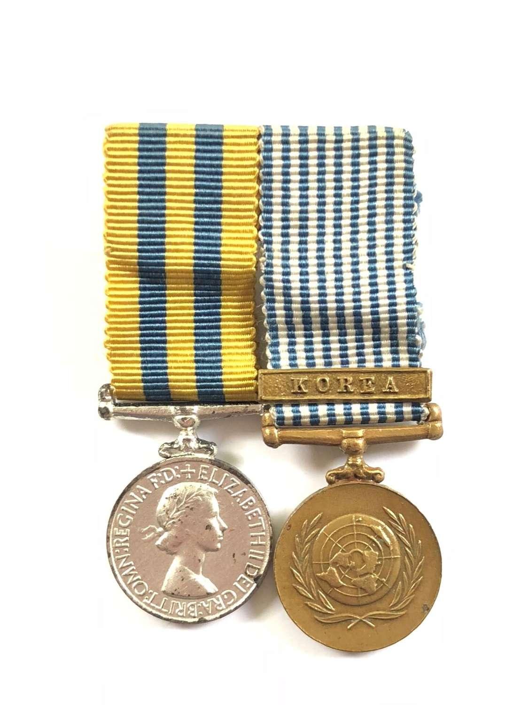 Korean War Medal Pair of MINIATURE Medals.
