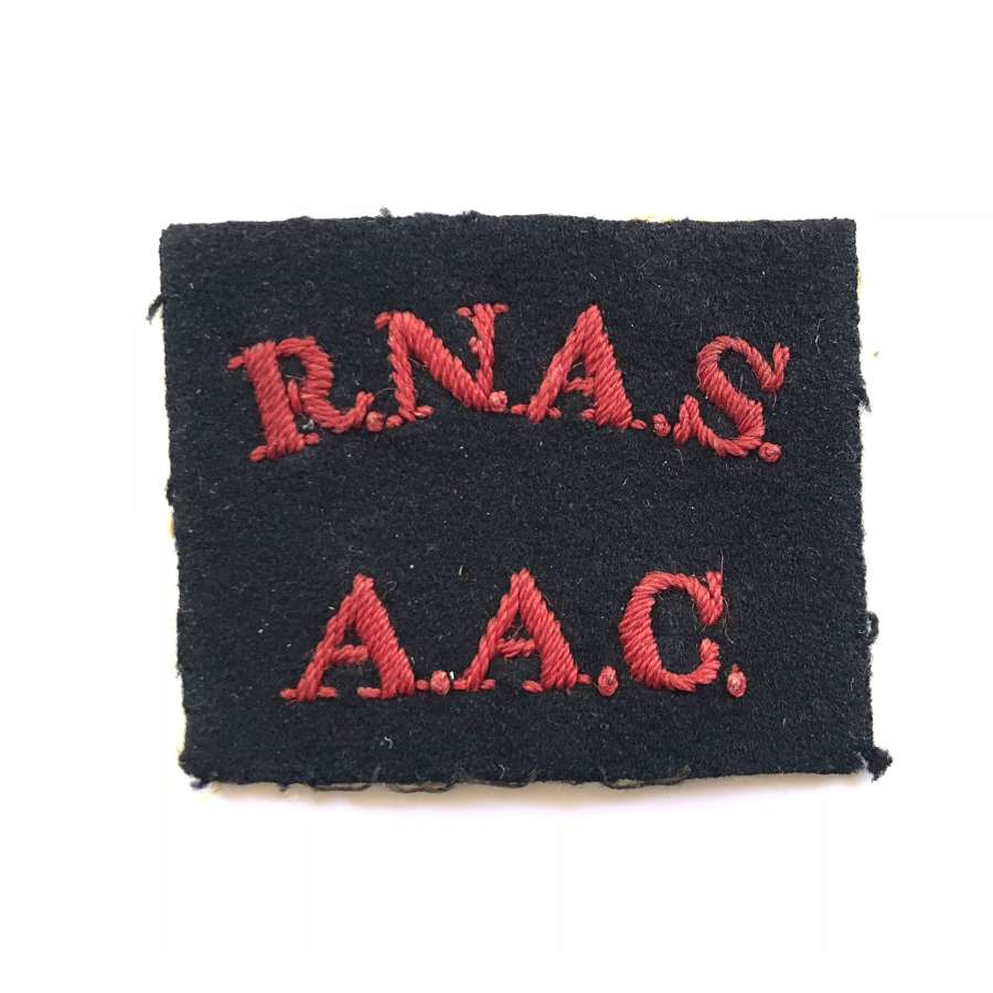 WW1 RNAS / AAC  Royal Naval Air Service Anti-Aircraft Corps Badge