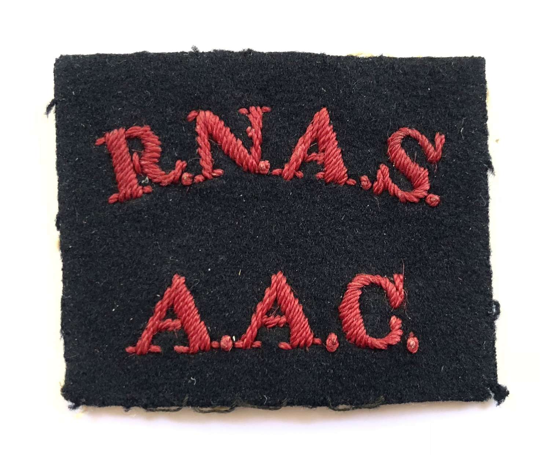 WW1 RNAS / AAC  Royal Naval Air Service Anti-Aircraft Corps Badge