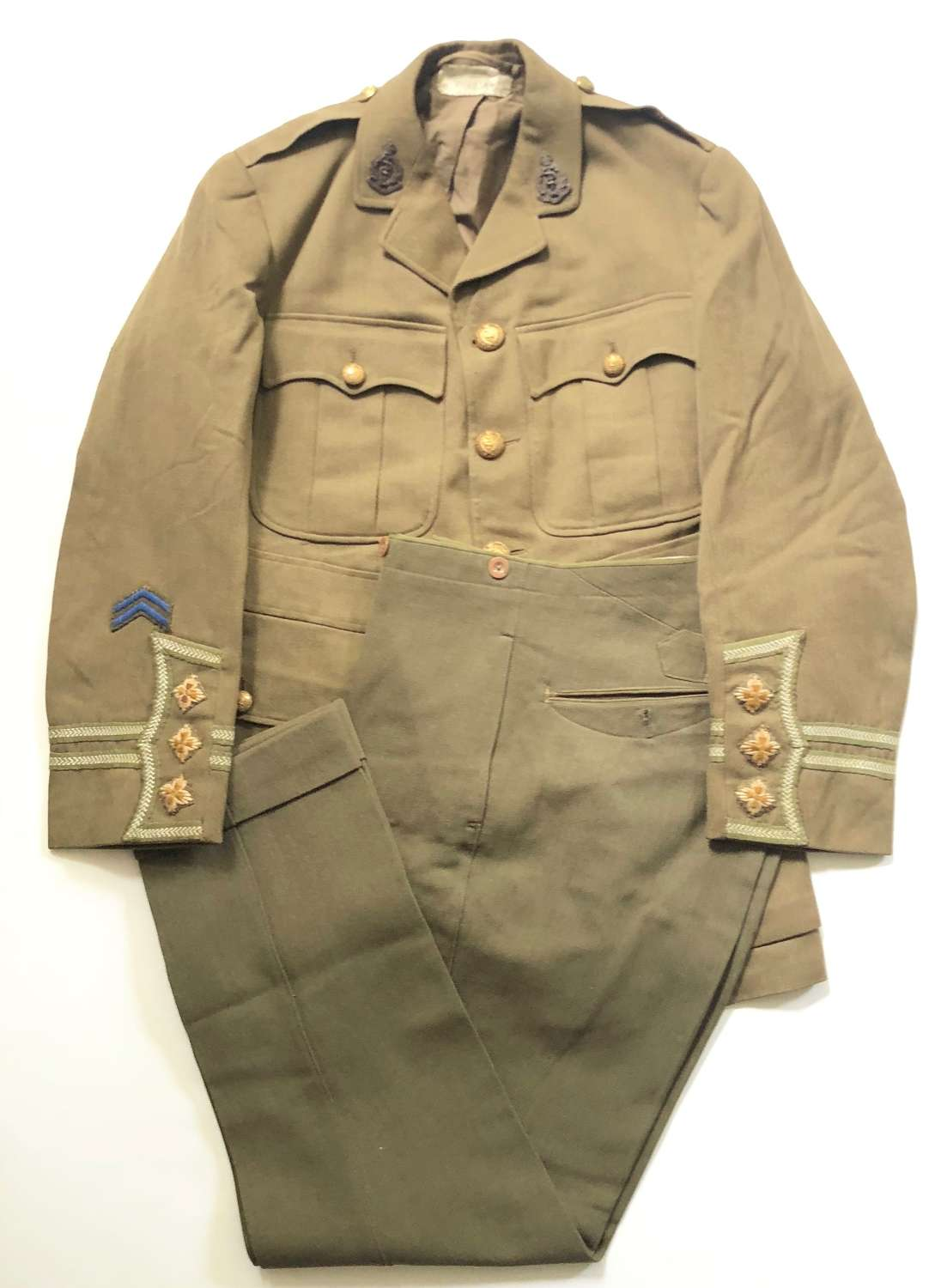 WW1 RAMC Attributed Officer's Cuff Rank Tunic & Trousers.