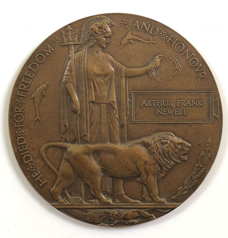 WW1 1918 Essex Regiment / 8th KRRC Officer's Memorial Plaque