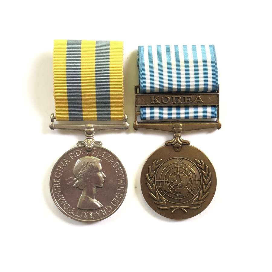 Royal Leicesters Korea War Pair of Medals.