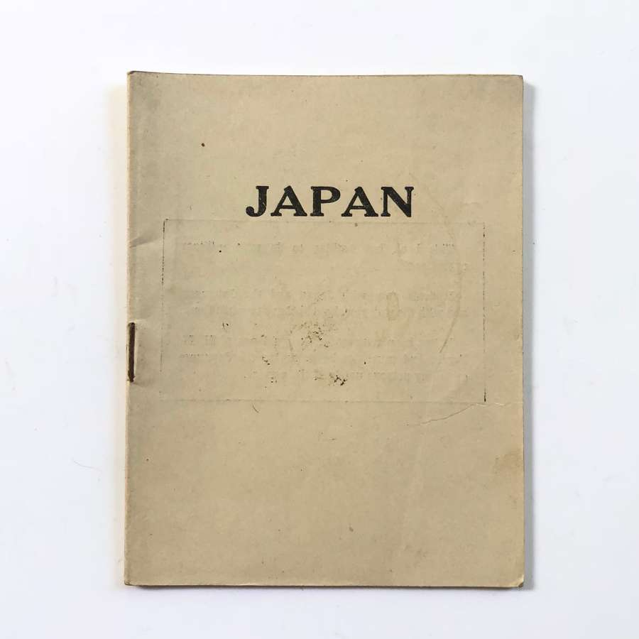 WW2 Period Sailors Soldiers & Airman Guide to Japan.