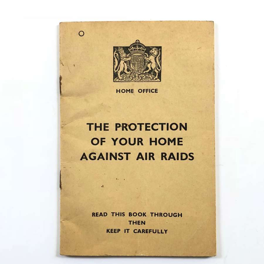 WW2 Home Front 1938 Official Booklet.