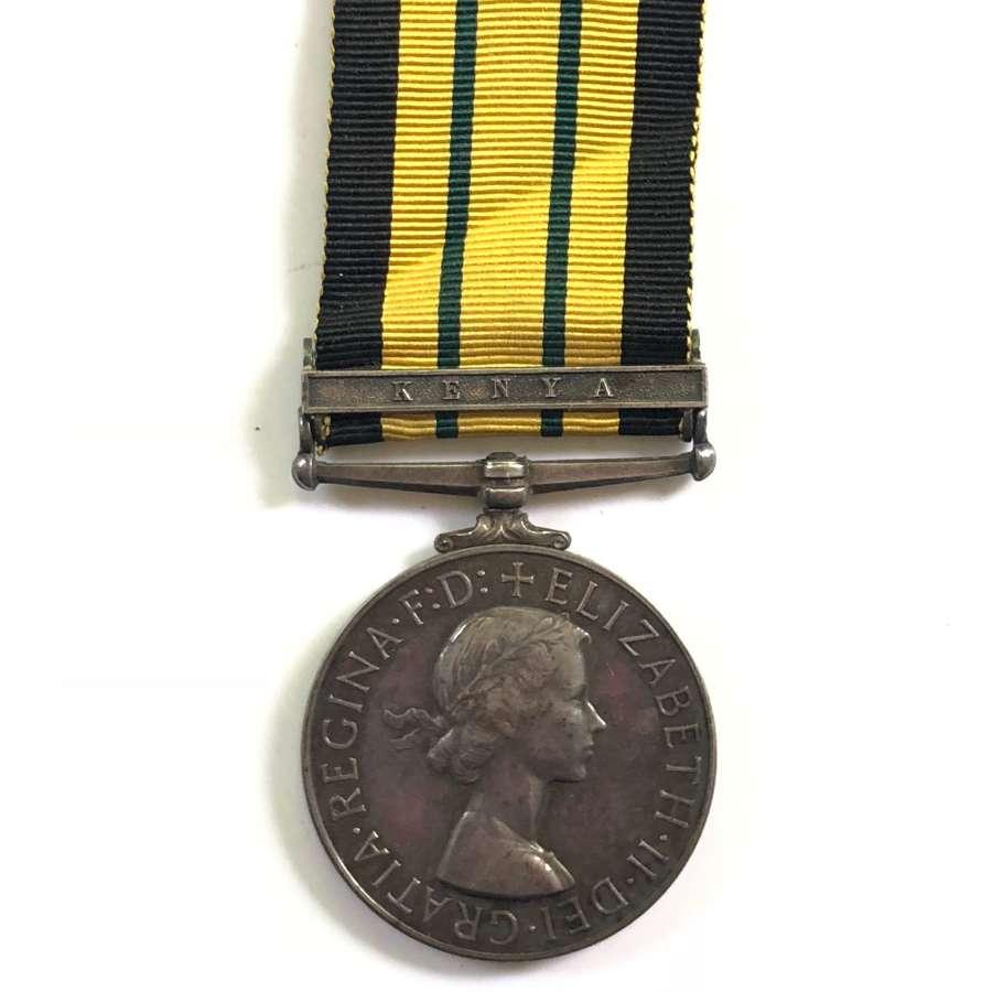 Royal Signals Africa General Service Medal Kenya.