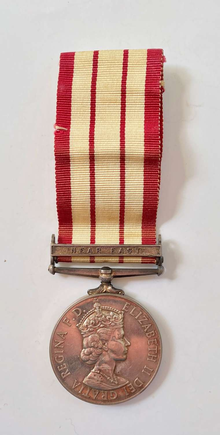 Royal Navy Naval General Service Medal Clasp Near East.