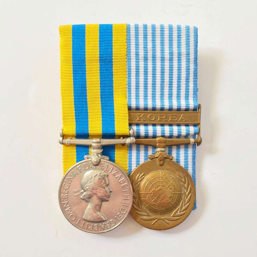 Royal Norfolk Regiment Korean War Pair of Medals