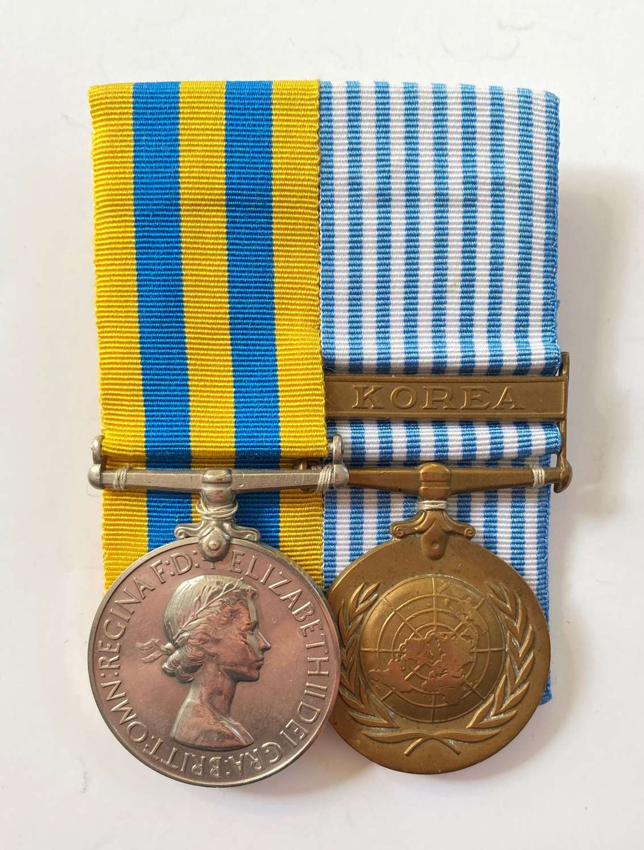 Royal Norfolk Regiment Korean War Pair of Medals