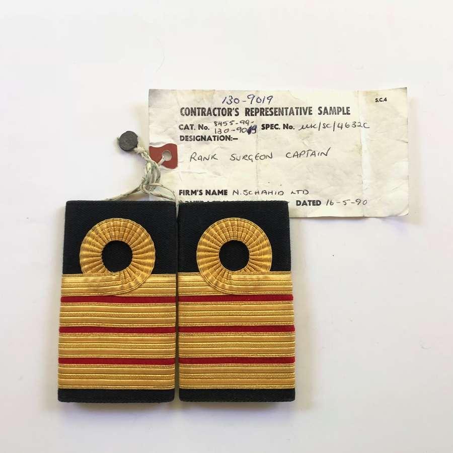 Royal Navy Surgeon Captain Sealed Pattern Shoulder Rank.