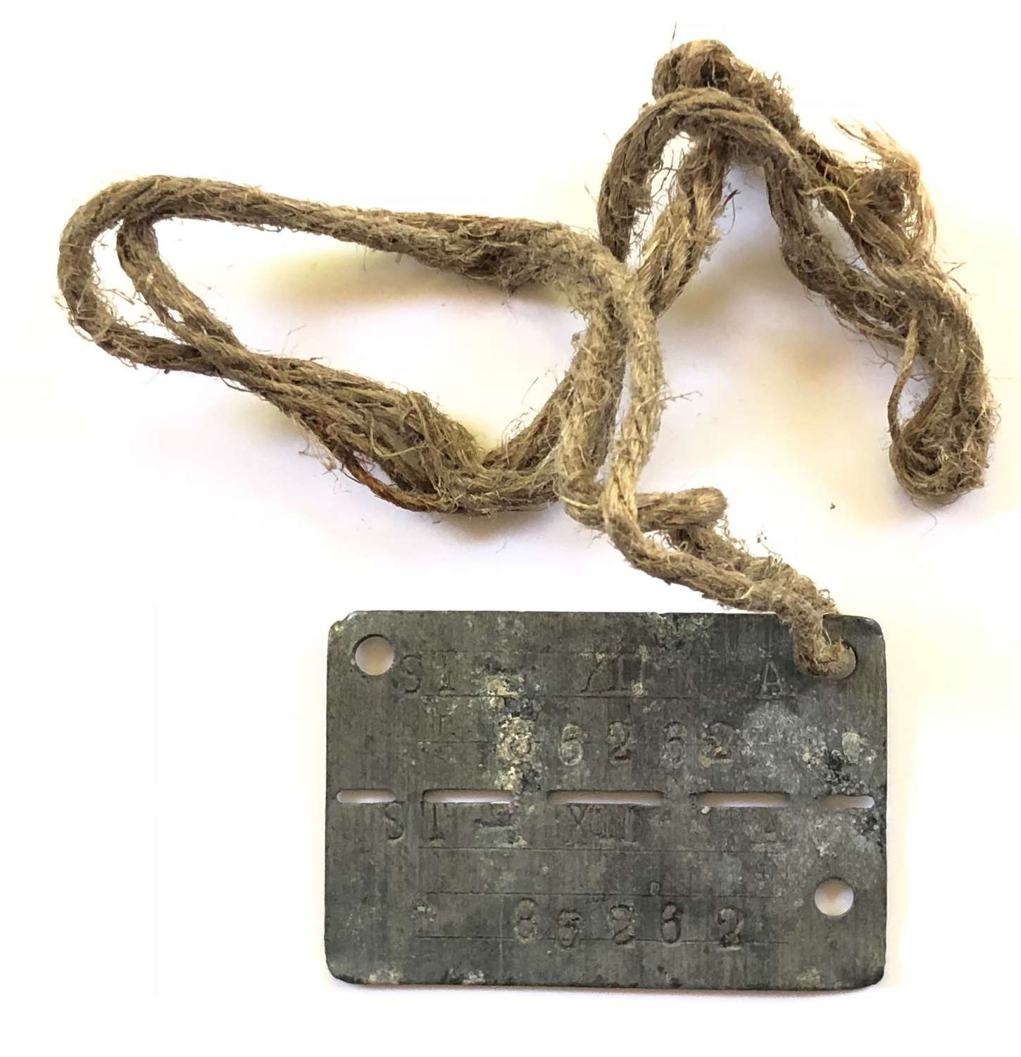 WW2 POW Dog Tag Attributed Norfolk Regiment VC Action 1944.