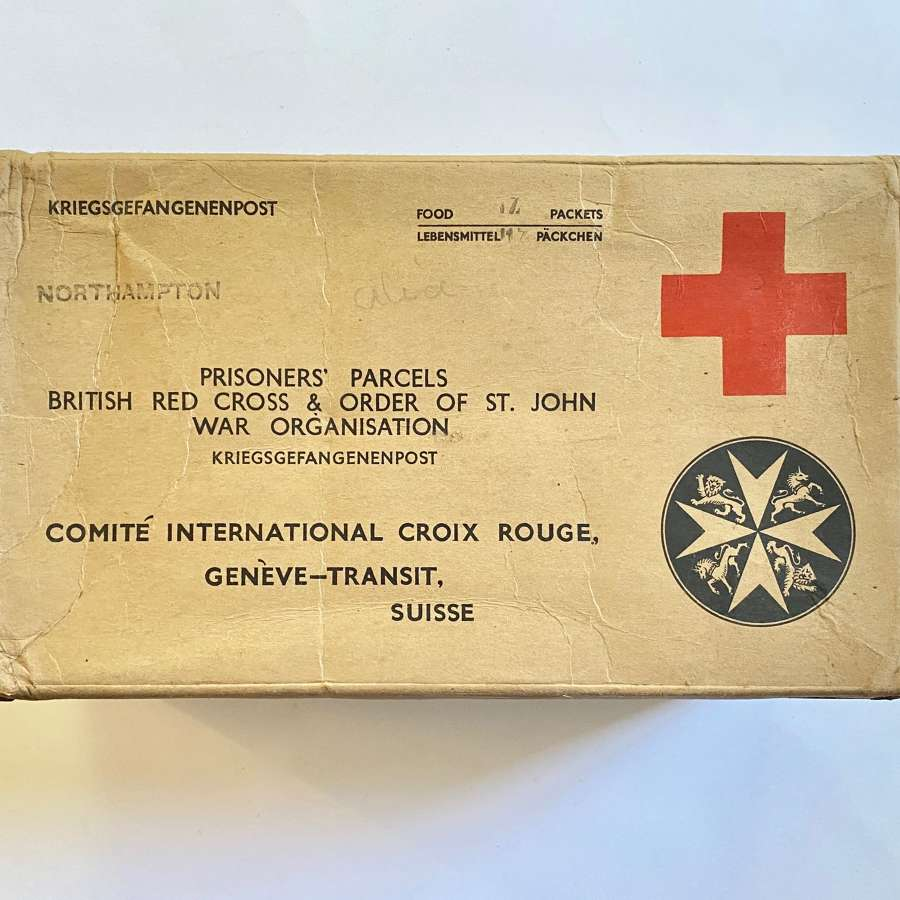 WW2 British Red Cross POW Cardboard Box.