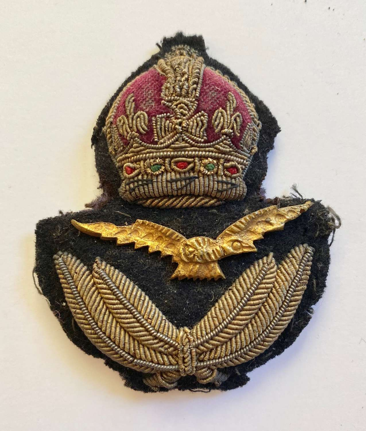 WW2 RAF Unusual Officer's Bullion Cap Badge.