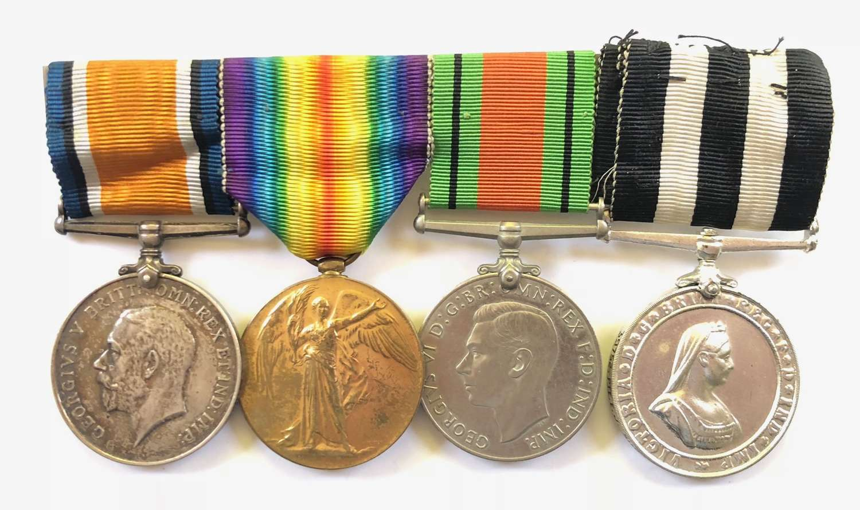 WW1 4th Bn London Regiment & Suffolk St.John Ambulance Medal Group