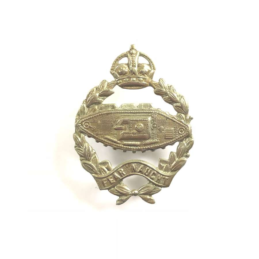 WW2 Royal Tank Regiment Cap Badge.