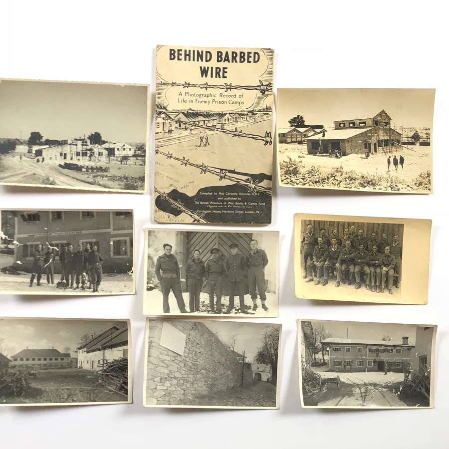 WW2 British POW Stalag 383 Photographs & 1942 POW Photograph Booklet